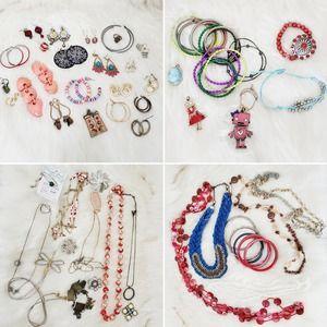 Jewelry Lot 3 Pounds Earrings Bracelets Necklaces